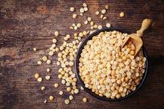 Yellow dry split peas Stock Image
