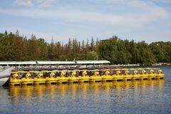 Yellow Duck boat Royalty Free Stock Photography