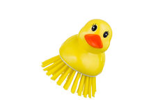 Yellow  duck brush Royalty Free Stock Photo