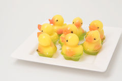 Yellow duck jelly Royalty Free Stock Images