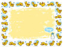 Yellow duckies frame boy Royalty Free Stock Photography