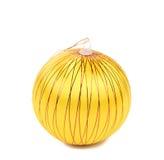 Yellow dull christmas ball. Stock Images