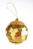Yellow dull christmas ball Stock Image