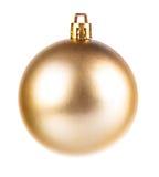 Yellow dull christmas ball Stock Images