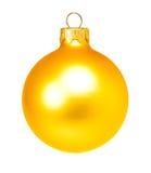 Yellow dull christmas ball Stock Photography