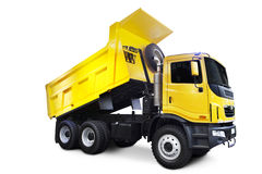 Yellow Dump Truck. A Big Yellow Dump Truck Isolated on White Royalty Free Stock Photography