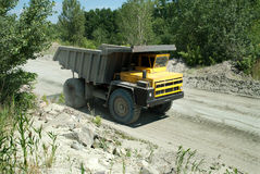 Yellow dump truck Stock Photos