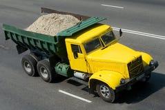 Yellow  dump truck Royalty Free Stock Photography