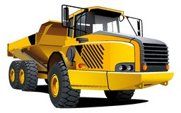 Yellow dumper. Detailed ial image of yellow dumper isolated on white background Royalty Free Stock Photography