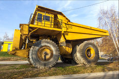 Yellow dumper truck 03 Royalty Free Stock Photo