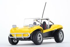 Yellow dune buggy. Side view of yellow dune or beach buggy isolated on white background Royalty Free Stock Photos