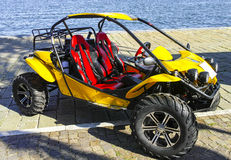 Yellow dune buggy Royalty Free Stock Photography