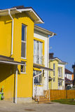 Yellow Duplex house Stock Photos