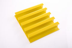 Yellow duralumin assembly. ,white background Stock Photos