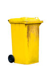 Yellow dustbin Stock Image