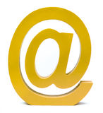 Yellow e-mail sign Royalty Free Stock Photos