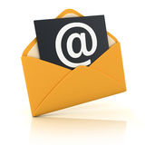 Yellow E-mail Stock Photography