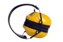 Yellow ear muffs Stock Photo