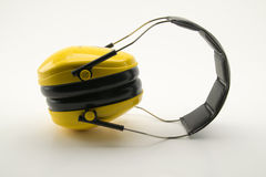Yellow ear protection Royalty Free Stock Photography