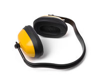 Yellow earmuffs Royalty Free Stock Images