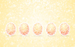 Yellow Easter brilliant eggs Royalty Free Stock Images