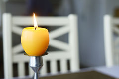 Yellow easter candle Royalty Free Stock Photography
