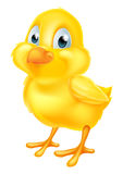 Yellow Easter Chick. A cute cartoon yellow Easter chick baby chicken bird vector illustration