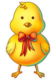 Yellow Easter Chicken Cartoon Character Stock Photos