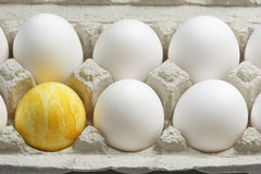 Yellow Easter Egg Stock Photography