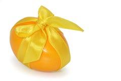 Yellow easter egg Stock Image