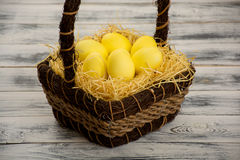 Yellow easter egg Royalty Free Stock Images