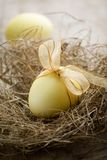 Yellow easter eggs Royalty Free Stock Photo
