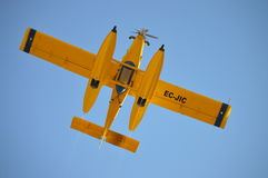 Yellow Ec Jic Plane Under Blue Sky at Day Time Stock Photography