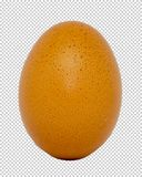 Yellow chicken egg on transparent background, png royalty free stock image