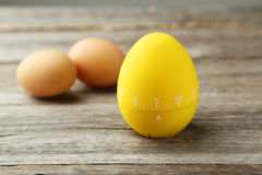 Yellow egg timer Royalty Free Stock Photo