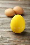 Yellow egg timer Stock Images