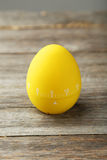 Yellow egg timer Stock Photo