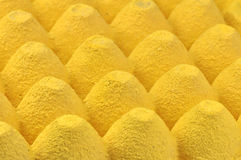 Yellow egg tray stock images
