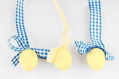 Yellow eggs Stock Images