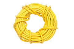 Yellow electric cable Royalty Free Stock Image