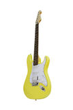Yellow electric guitar Stock Image