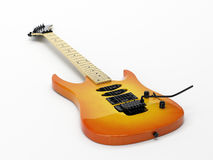 Yellow Electric Guitar Royalty Free Stock Photo