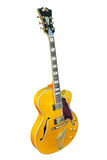 Yellow electric guitar Stock Images