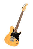 Yellow electric guitar. Against white background Royalty Free Stock Photos