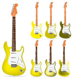 Yellow electric guitars Royalty Free Stock Photography