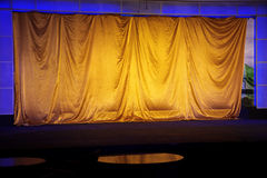 Yellow elegant theater Stock Image