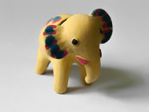 YELLOW ELEPHANT TOY Stock Photography