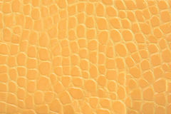 Yellow embossed leather texture background Royalty Free Stock Photography