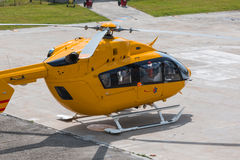 Yellow Emergency Helicopter, medical rescue team Stock Image