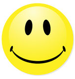 Yellow emoticon. Royalty Free Stock Photo